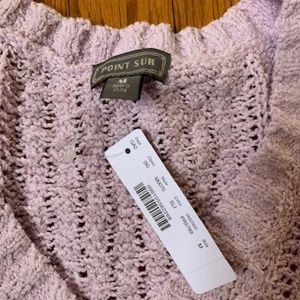 J Crew Point Sur cable-knit V-neck sweater NEW